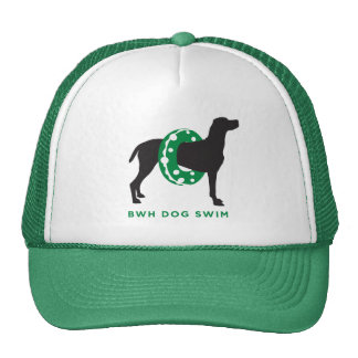 Trucker Hat Dog in Floatie