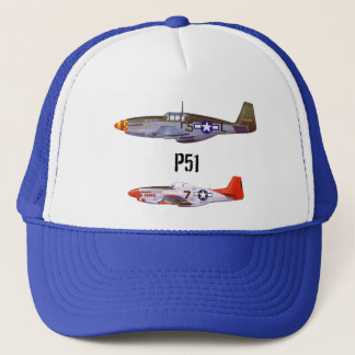 Trucker Hat p51 fighter planes by highsaltire
