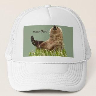 Trucker hat w/ playing cub