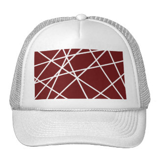 Trucker Hat WHITE ABSTRACT LINES