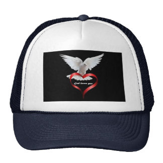 Trucker hat with Dove picture