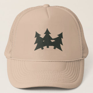 Trucker Hat with Pine trees
