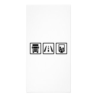 Trucker road freight photo cards