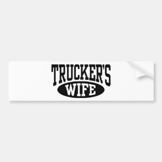 Trucker s Wife Bumper Stickers