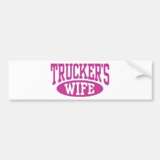 Trucker s Wife Bumper Sticker