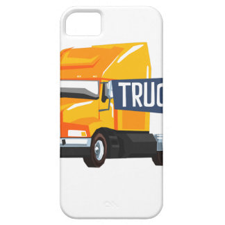 Trucker Standing Next To Heavy Yellow Long-Distanc Case For The iPhone 5