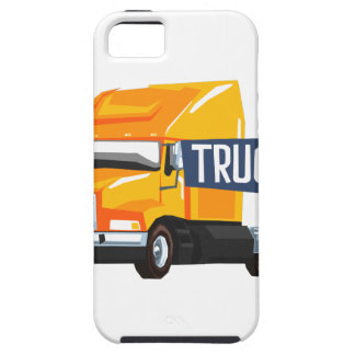 Trucker Standing Next To Heavy Yellow Long-Distanc iPhone 5 Case