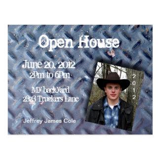 Trucker tread Open House Postcard