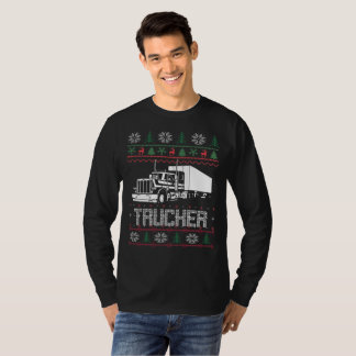 Trucker Ugly Christmas T-Shirt