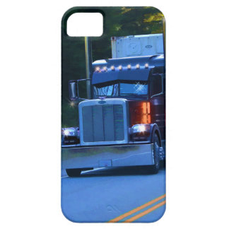 Truckers, Big Rig Cargo Truck Art Barely There iPhone 5 Case