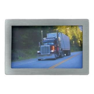 Truckers, Big Rig Cargo Truck Art Belt Buckles