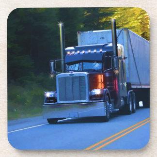 Truckers, Big Rig Cargo Truck Art Coaster