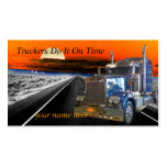 Truckers Do It On Time Make an Impression KIS card Double-Sided Standard Business Cards (Pack Of 100)