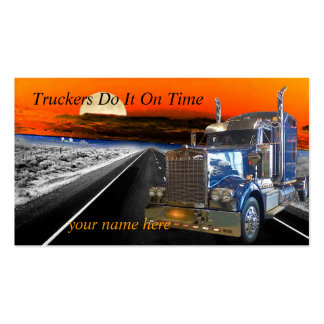 Truckers Do It On Time Make an Impression KIS card Pack Of Standard Business Cards