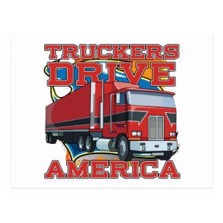 Truckers Drive America Postcard