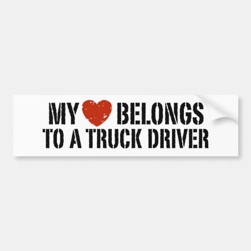 Trucker's Girl Bumper Stickers