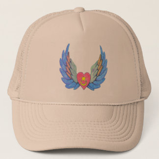Trucker's hat with winged heart