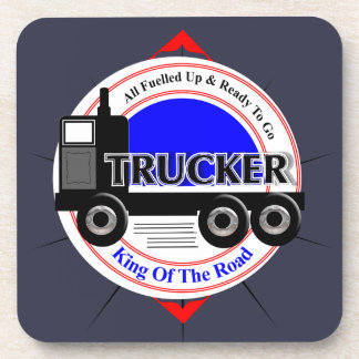 Truckers Novelty King Of The Road Graphic Coaster