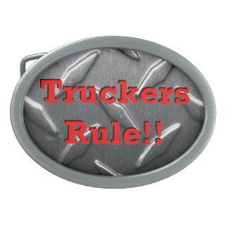 """""""Truckers Rule!!"""" belt buckle"""