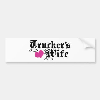 Trucker's Wife Bumper Sticker