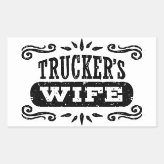 Trucker's Wife Rectangular Sticker