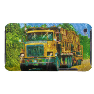 Truckers Yellow Scaffolding Lorry Heavy Transport Barely There iPod Cases