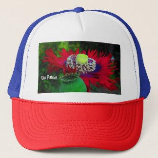 Truckin Patriot poppy Trucker Hat
