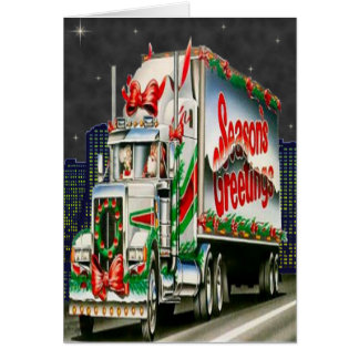 Truckin Santa - Greeting Card