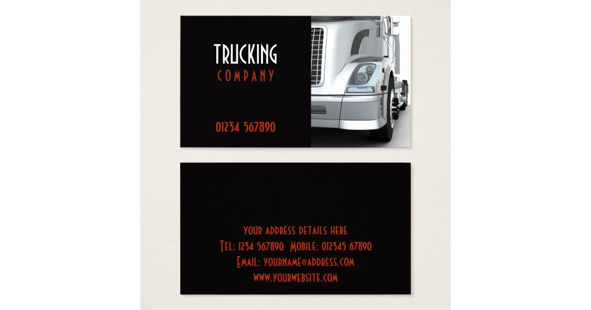 Trucking Business Card Zazzle