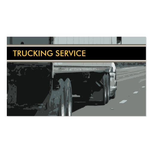 Trucking business cards zazzle for Trucking business card