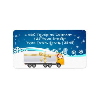 Trucking Business Holiday Address Label