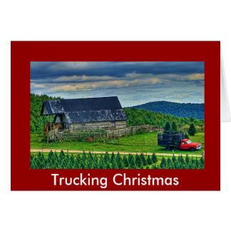 Trucking Christmas Greeting Card