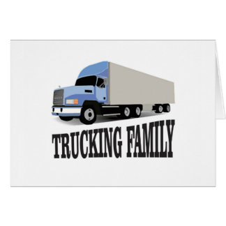 trucking family blue card