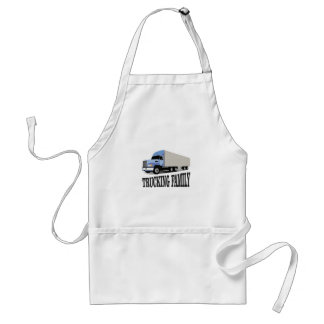 trucking family blue standard apron