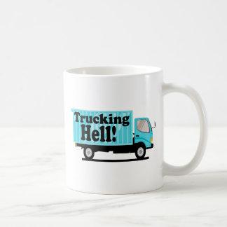 Trucking Hell Funny Pun Coffee Mug