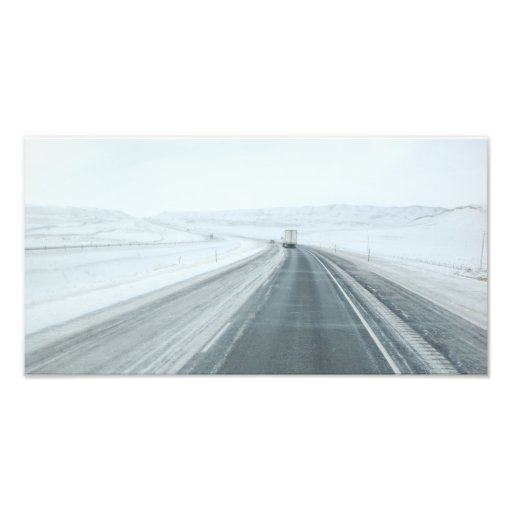 Trucking Interstate 80 Wyoming USA Art Photo