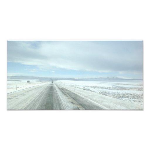 Trucking Interstate 80 Wyoming USA Photograph