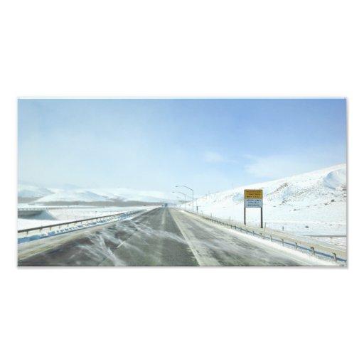 Trucking Interstate 80 Wyoming USA Photo Art
