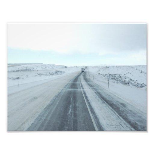 Trucking Interstate 80 Wyoming USA Photo