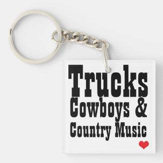Trucks Cowboys & Country Music Key Chain