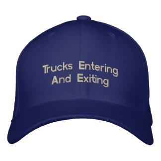 Trucks Entering And Exiting Baseball Cap