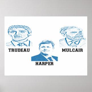 Trudeau Harper Mulcair Poster