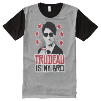 Trudeau is my Bro -.png All-Over Print T-Shirt