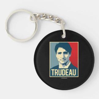 Trudeau Propaganda Poster -.png Key Ring
