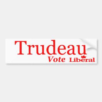 Trudeau Vote Liberal Logo Bumper Sticker