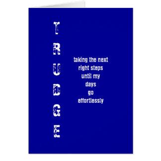 TRUDGE CARD