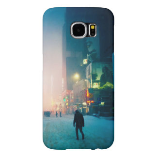 Trudging Through The Snow In Times Square Samsung Galaxy S6 Cases
