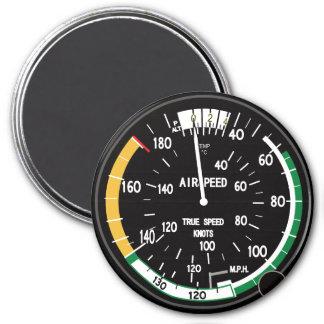 True Airspeed Indicator for Nerd Geeks 7.5 Cm Round Magnet