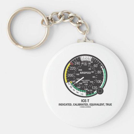 True Airspeed Indicator (ICE-T Mnemonic) Keychains