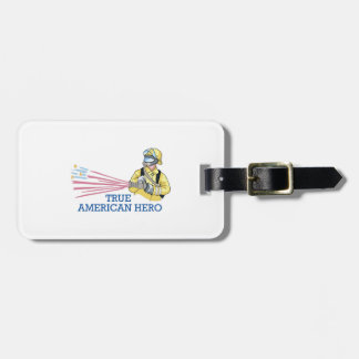 TRUE AMERICAN HERO TAG FOR LUGGAGE